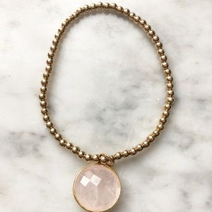 Jewelry - E Newton Classic Gold 2mm Bead Bracelet with charm